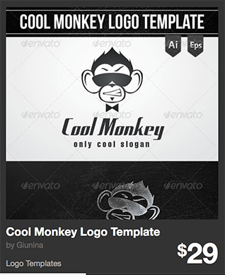 Cool Monkey Logo Template