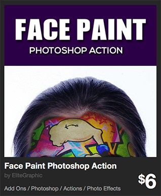 Face Paint Photoshop Action by EliteGraphic | GraphicRiver