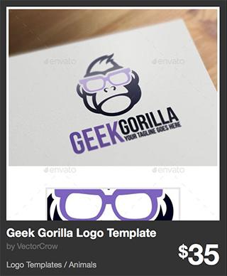 Geek Gorilla Logo Template