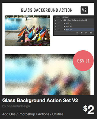 Glass Background Action Set V2 by onesmfadesign   GraphicRiver