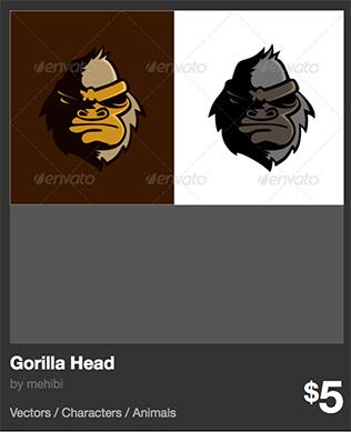Gorilla Head - monos y gorilas