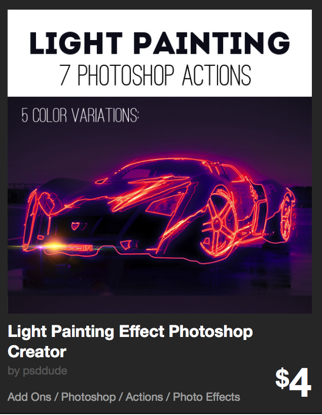 Light Painting Effect Photoshop Creator by psddude | GraphicRiver
