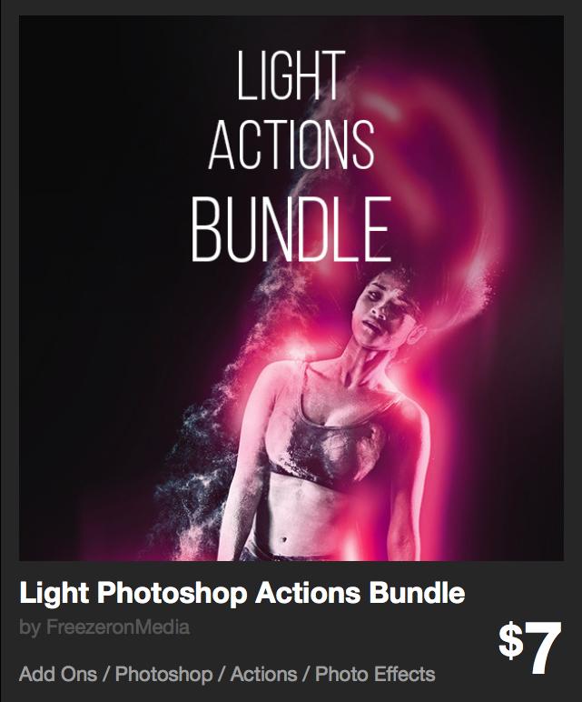 Light Photoshop Actions Bundle by FreezeronMedia | GraphicRiver