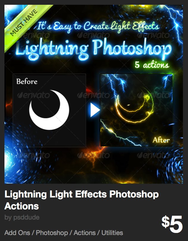 Lightning Light Effects Photoshop Actions by psddude | GraphicRiver