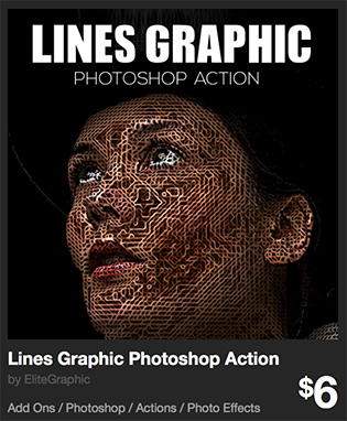 Lines Graphic Photoshop Action by EliteGraphic   GraphicRiver
