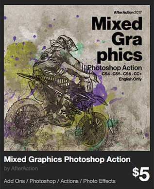 Mixed Graphics Photoshop Action by AfterAction | GraphicRiver