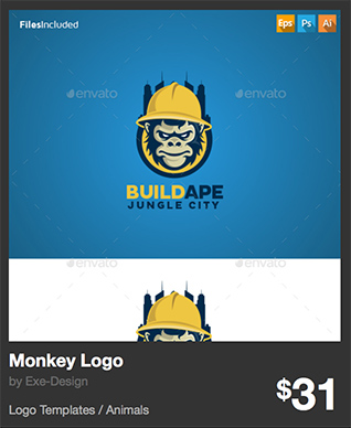Monkey Logo - Build Ape - jungle city