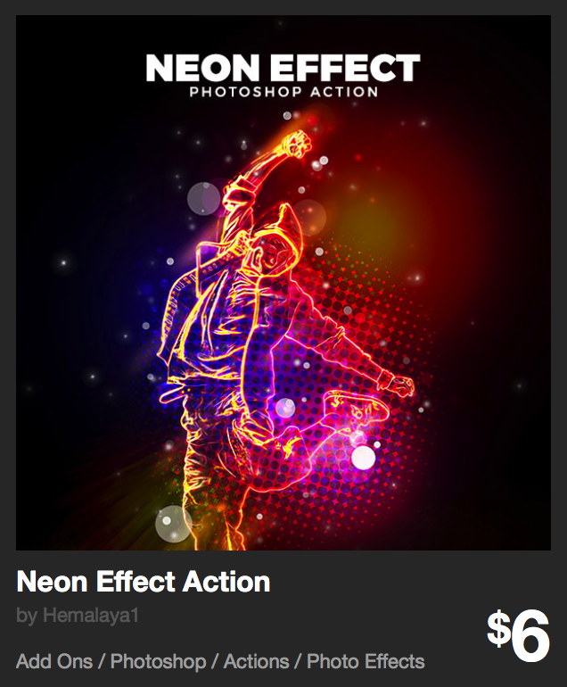 Neon Effect Action by Hemalaya1 | GraphicRiver
