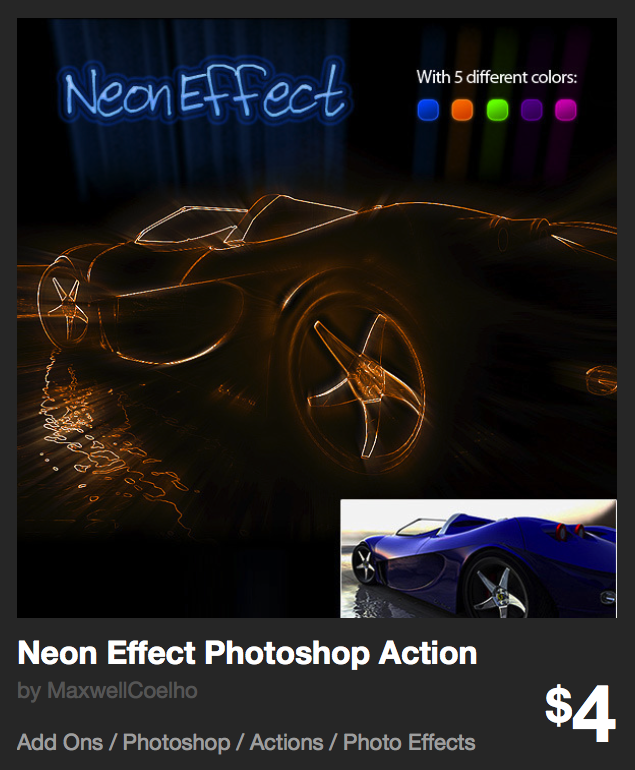 Neon Effect Photoshop Action by MaxwellCoelho | GraphicRiver