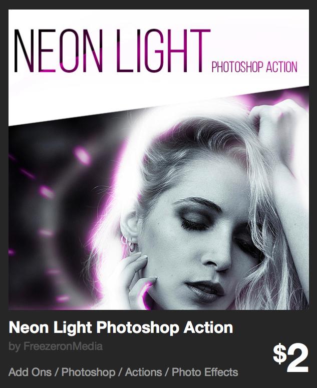 Neon Light Photoshop Action by FreezeronMedia | GraphicRiver