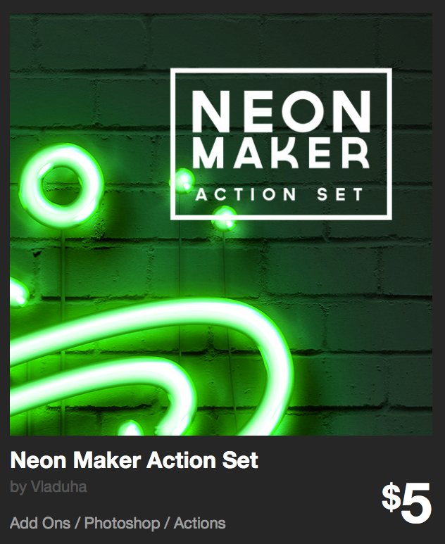 Neon Maker Action Set by Vladuha | GraphicRiver