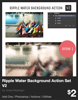 Ripple Water Background Action Set V2 by onesmfadesign   GraphicRiver