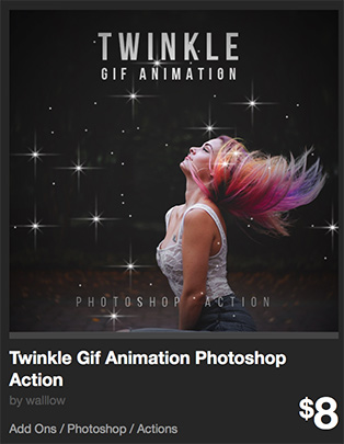 Twinkle Gif Animation Photoshop Action by walllow   GraphicRiver
