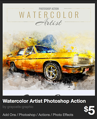 Watercolor Artist Photoshop Action by graycells-graphic   GraphicRiver
