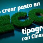 tipografía desde Cinema 4D
