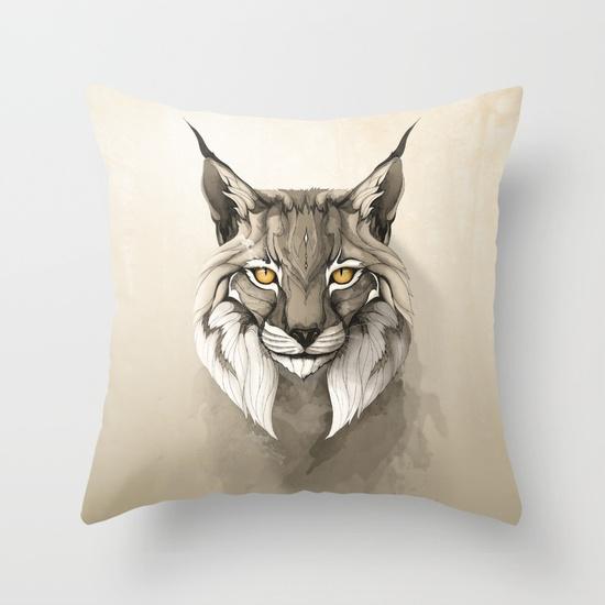 THROW PILLOW COVER - INDOOR Lynx por Rafapasta