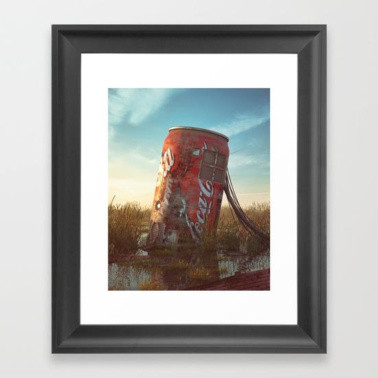 Coke Framed Art Print by Filip Hodas | Society6