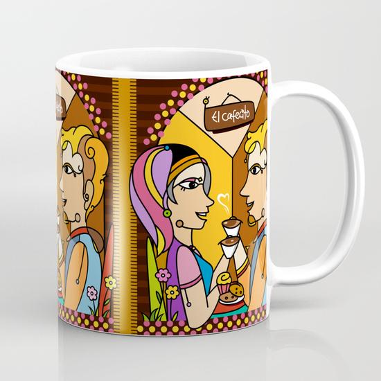 El cafecito Mug by NACHOMEN | Society6