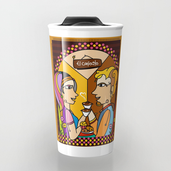 El cafecito Travel Mug by NACHOMEN | Society6