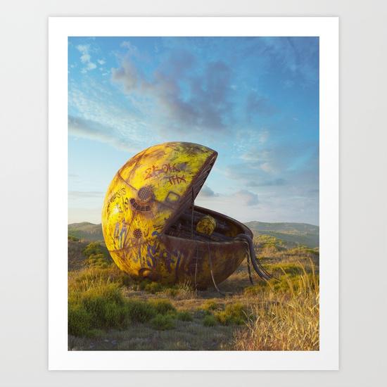 Pac-man Art Print by Filip Hodas | Society6