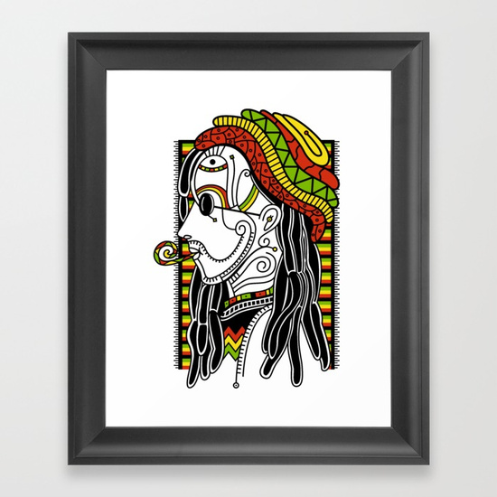 Rasta Framed Art Print by NACHOMEN | Society6
