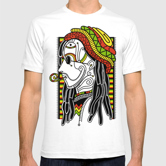 Rasta T-shirt by NACHOMEN | Society6