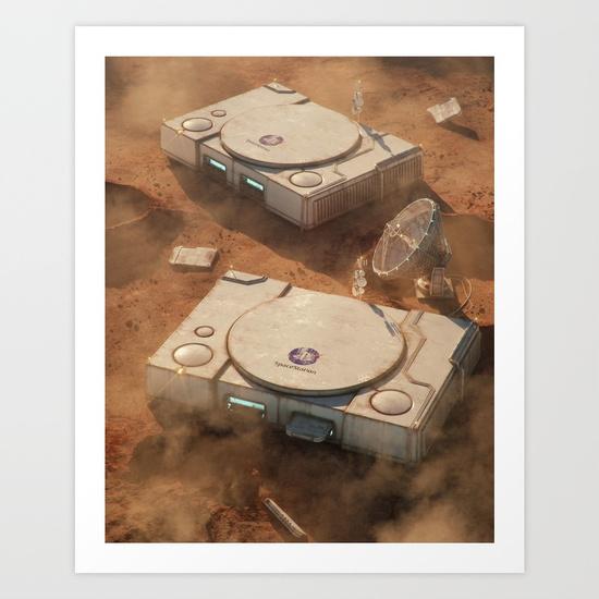 SpaceStation 1 Art Print by Filip Hodas | Society6
