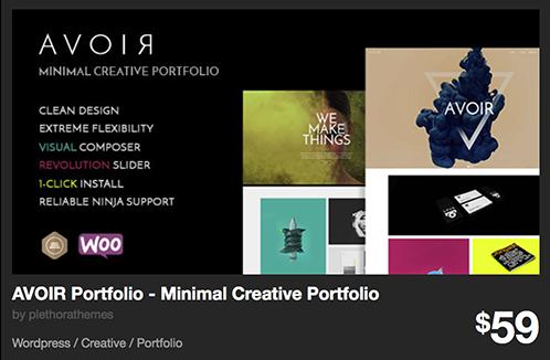 AVOIR Portfolio - Minimal Creative Portfolio by plethorathemes | ThemeForest