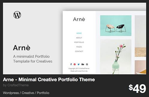 Arne - Minimal Creative Portfolio Theme by CraftedTheme | ThemeForest