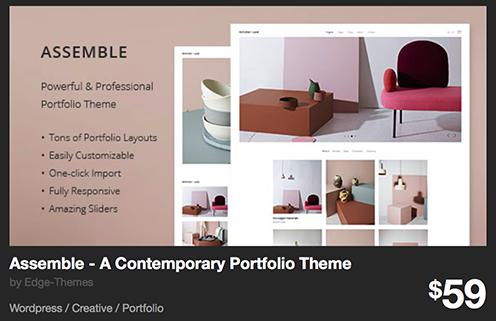 Assemble - A Contemporary Portfolio Theme by Edge-Themes | ThemeForest