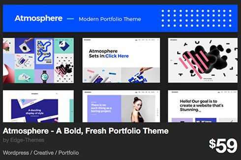 Atmosphere - A Bold, Fresh Portfolio Theme by Edge-Themes | ThemeForest