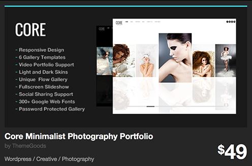 Core Minimalist Photography Portfolio by ThemeGoods | ThemeForest