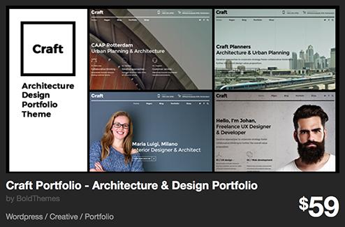Craft Portfolio - Architecture & Design Portfolio by BoldThemes | ThemeForest