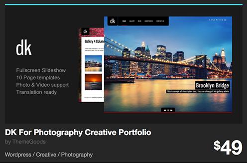 DK For Photography Creative Portfolio by ThemeGoods | ThemeForest
