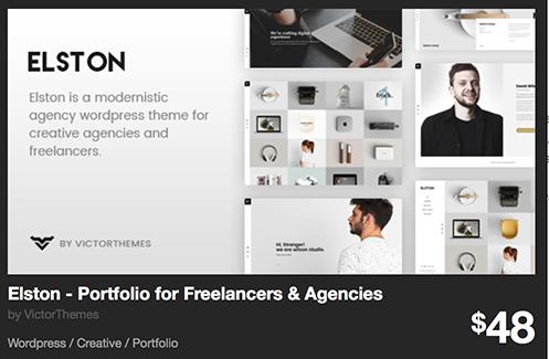 Elston - Portfolio for Freelancers & Agencies by VictorThemes | ThemeForest
