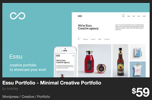 Essu Portfolio - Minimal Creative Portfolio by kotofey | ThemeForest