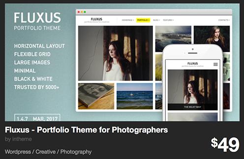 Fluxus - Portfolio Theme for Photographers by intheme | ThemeForest