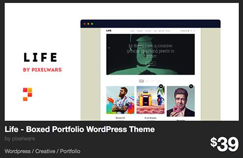 Life - Boxed Portfolio WordPress Theme by pixelwars | ThemeForest