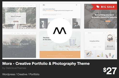 Mora - Creative Portfolio & Photography Theme by DeliciousThemes | ThemeForest