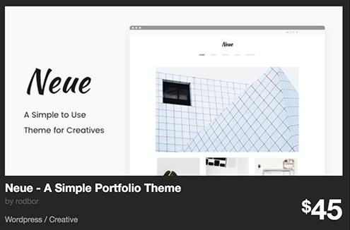 Neue - A Simple Portfolio Theme by rodbor | ThemeForest