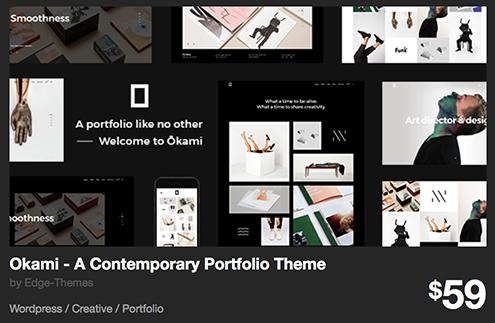 Okami - A Contemporary Portfolio Theme by Edge-Themes | ThemeForest