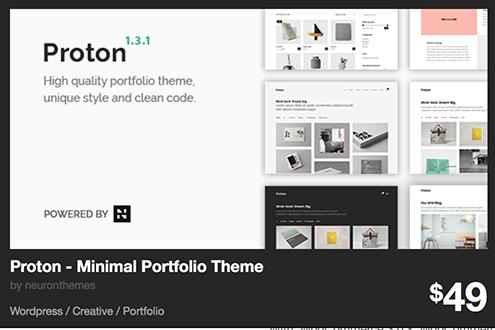 Proton - Minimal Portfolio Theme by neuronthemes | ThemeForest