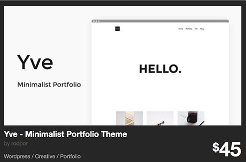 Yve - Minimalist Portfolio Theme by rodbor | ThemeForest