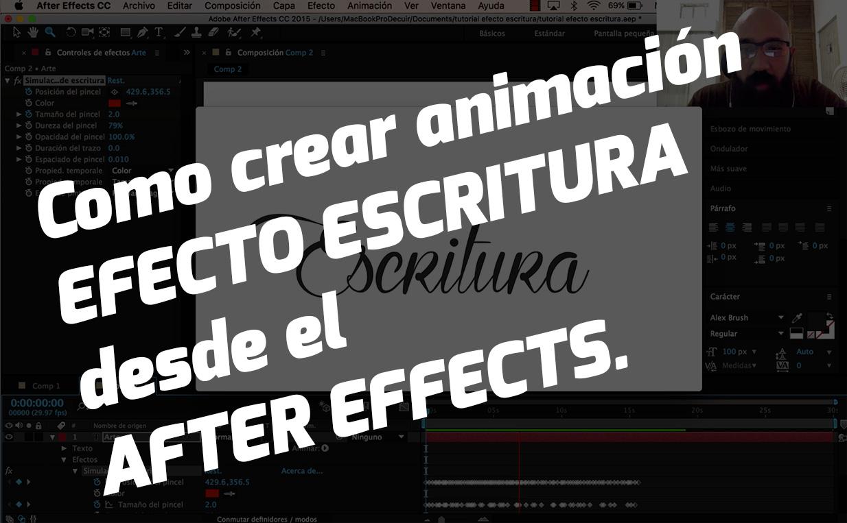 animación efecto escritura