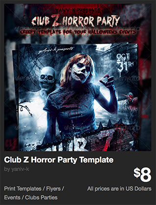 Club Z Horror Party Template by yaniv-k | GraphicRiver