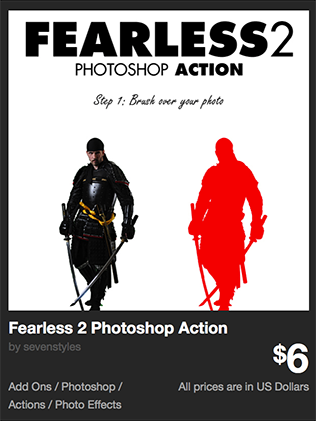 Fearless 2 Photoshop Action by sevenstyles | GraphicRiver