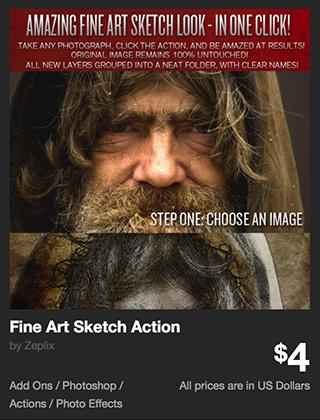Fine Art Sketch Action by Zeplix | GraphicRiver