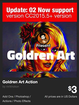 Goldren Art Action by mrikhokon | GraphicRiver