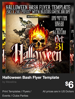 Halloween Bash Flyer Template by Mexelina | GraphicRiver