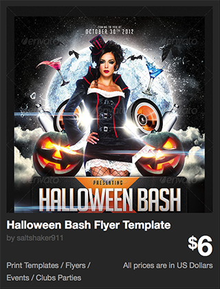 Halloween Bash Flyer Template by saltshaker911 | GraphicRiver
